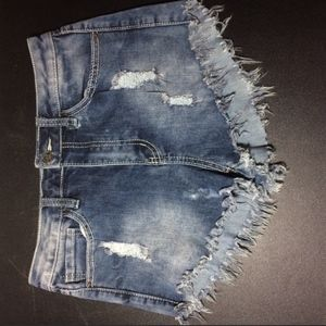 High wasted Distressed shorts